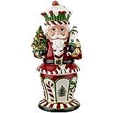 Spode Christmas Tree Peppermint Figural Nutcracker Cookie Jar