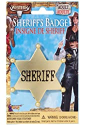 Forum Wild Western Sheriff Badge - Gold