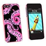 Graphics and More Octopus Tentacles Pink On Black - Squid Kraken - Snap-On Hard Protective Case for Apple iPhone 5/5s - Non-Retail Packaging - Pink