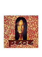 ARTE E TESSUTI by MANIFATTURE COTONIERE Panel Decorativo Pece_Asia Rojo/Multicolor