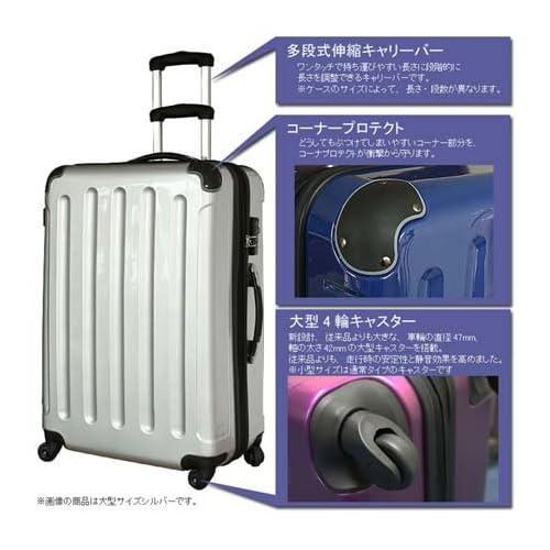 ゴーウェル(gowell) MOA(モア) スーツケース ファスナー四輪鏡面タイプ Mサイズ TSAロック付き N6260-M ルビーレッド
