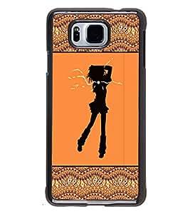 Printvisa 2D Printed Girly Designer back case cover for Samsung Galaxy Alpha- D4264