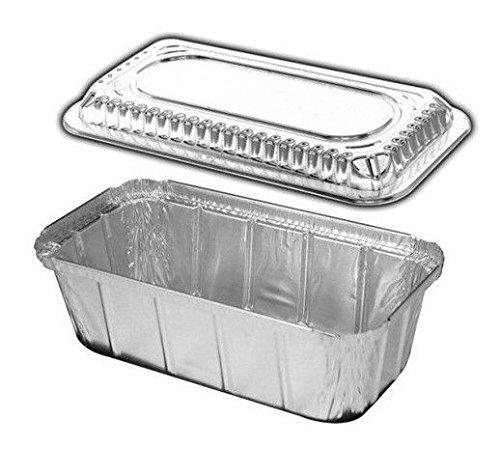 Handi-Foil 1 1/2 lb. IVC Disposable Aluminum Foil Loaf Pan w/Clear Dome Lid (Pack of 25)