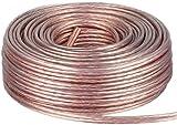 DCSk Lautsprecher Boxen Kabel transparent - 2x1,5mm² - 25m Ring | reines Kupfer