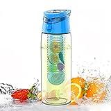 AVOIN colorlife 水筒 オリジナルフルーツウォーター手作りケーターマグ&スポーツボトル(取っ手付きタイプ) - 700ml - BPA Free