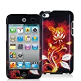 Flaming Rose Design Crystal Hard Skin Case Cover New for Apple Ipod Touch iTouch 4th Generation Gen 4g 4 8gb 32gb 64gb - Electromaster(TM) Brand
