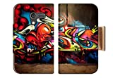 Street Artist Viral Art Abstract Graffiti Digital Punktail's Collections Motorola Moto X Flip Case Stand Magnetic Cover Made to Order Pu Leather