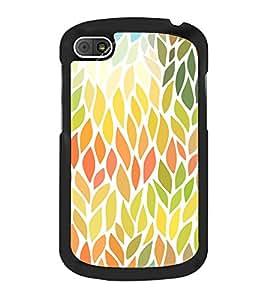 Leaves Pattern 2D Hard Polycarbonate Designer Back Case Cover for BlackBerry Q10