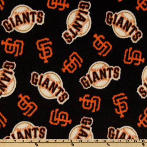 60'' Wide MLB Fleece San Francisco Giants Toss Black Fabric By The Yard at Amazon.com