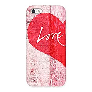 Delighted Love Pink Multicolor Back Case Cover for iPhone SE