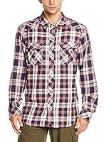 Icepeak Camisa Hombre Jacob (Azul Oscuro / Rojo / Blanco)