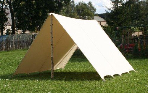 Sonnensegel-LARP-Reenactment-Reenactmentzelt-Lagerplane-Mittelalter-Zelt-frame-tent-Ritterzelt-Ritter