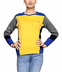 Leebonee Women's Acrylic Full Sleeve Lemon Sweater