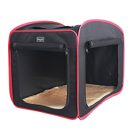 Petsfit 31″x20″x25″ Portable Pop Open Cat Kennel,Cat Cage,Dog Kennel,Cat Play Cube,Lightweight Pet Kennel (Black)