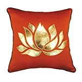 "Casa Pride Design Studio Flaming Lotus Collection Cushion Cover - Multicolor (16"" X 16"")"