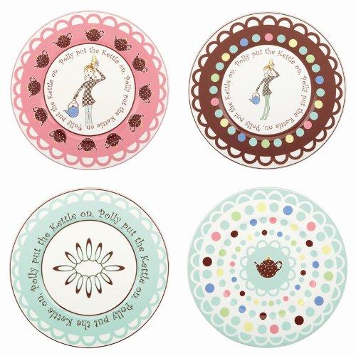 Gorham Merry Go Round Polly Put The Kettle On Dessert Plates - Set(s) Of 4
