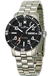 Fortis Mens Watch B-42 Official Cosmonauts Day/Date Titanium Automatic 647.27.11 M