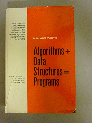 Algorithms + data structures=programs pdf