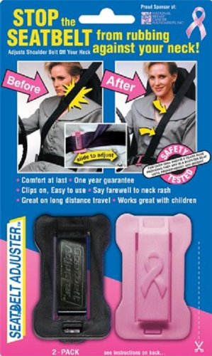 Masterlink Marketing 296-nbcf Black/Pink Seatbelt Adjuster, (Pack of 2)