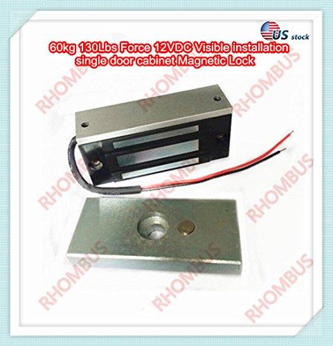 60Kg 130Lbs Force 12Vdc Visible Installation Single Door Cabinet Magnetic Lock