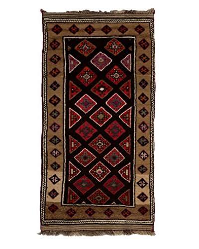 Darya Rugs Traditional Oriental Rug, Brown, 4' x 7' 9