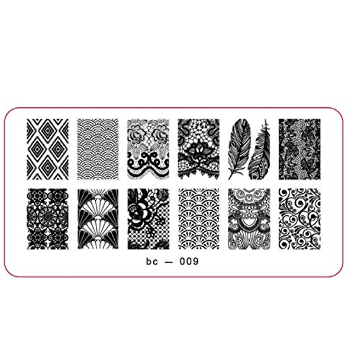 Vovotrade Nail Art Stamp image DIY Stamping Plaques Modèle Manucure(C)