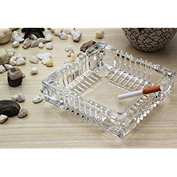 Amlong Crystal Large Classic Square Ashtray 6