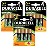 Duracell Rechargeable Accu Supreme 2400 mAh AA Batteries - 12 -Pack