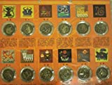 Chinese New Year Zodiac Animal Coins and Chart