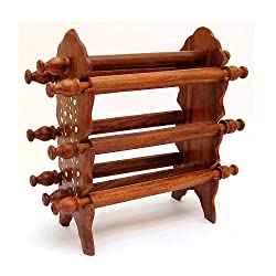 Onlineshoppee Wooden Bangle Stand (Brown, 6 rod))