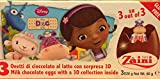 1 x Zaini Disney DOC McSTUFFIN chocolate egg treats with TOY- 3 per box-Made in ITALY-SHIPPING FROM H.K.