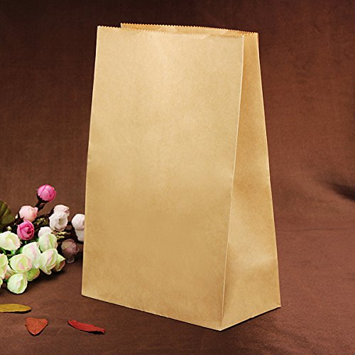 10Pcs Brown Cake Cookie Bread Baking Craft Paper Packing Bags