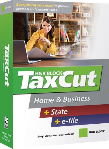 H&R Block Taxcut 2007 Home & Business + State + E-File [Old Version] front-651435