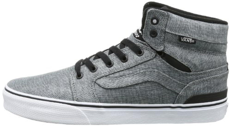 ... Vans Sanction Textile Canvas Classic Mid Top Shoes 83aa6560766e