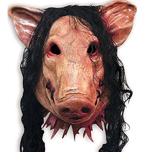 [Adult Saw Pig Head Mask Cosplay Halloween Fancy Dress Aessories Costume New Best] (Female Centaur Costume)