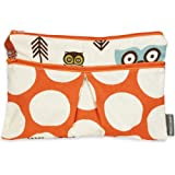 Logan + Lenora Wet/Dry Diaper Clutch 'Earthy Owls' Wet Bag Small
