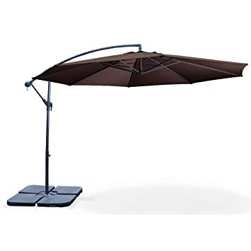 alice 39 s garden parasol parasol d port 300cm hardelot coloris chocolat chocolat. Black Bedroom Furniture Sets. Home Design Ideas