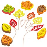 Leaf Foam Stampers for Children to Decorate Cards and Crafts (Pack of 10)