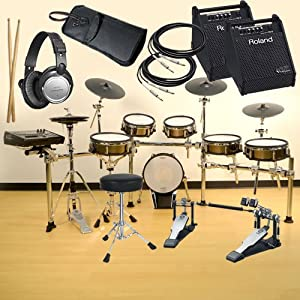Roland TD-30KV V-Drums COMPLETE BUNDLE w/ Monitor Speaker & Hardware by Roland