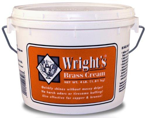 Wright's Brass Cream, 4 Lb Tub (Wrights Brass Polish compare prices)