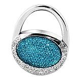 Skque latest fashion Crystal Alloy Foldable Handbag Hanger Pothook-Color in fancy blue