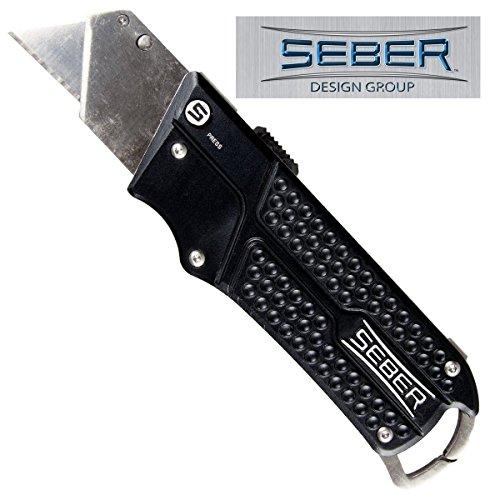 Seber Design Group SL2350CP Slide Utility Knife, Black