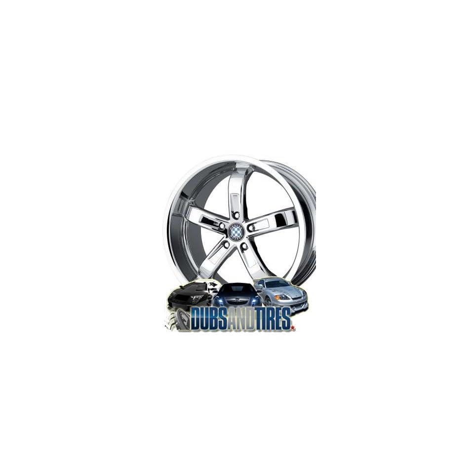 18 Inch 18x8.5 Beyern wheels TYPE FIVE Chrome wheels rims