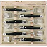 Black Handled Laguiole Verdier Heavy Duty Boxed Set of 6 Forks