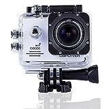 DBPOWER アクションカメラ 2インチ液晶搭載 1400万画素 1080PフルHD バイク/自転車/車などに取り付け可能30メートル防水 170度広角レンズ EX5000 ホワイト