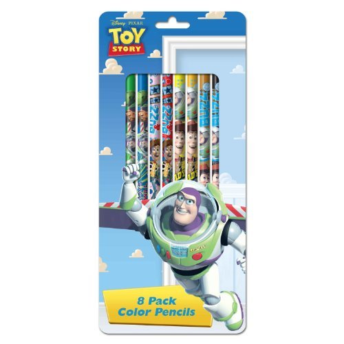 Disney Pixar Toy Story Colored Pencils 8 Pack - 1