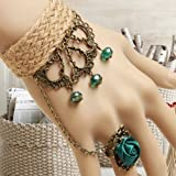 Sea Beach Tourism Fashion Handcrafted Crystal Charm Bracelet Ring Set