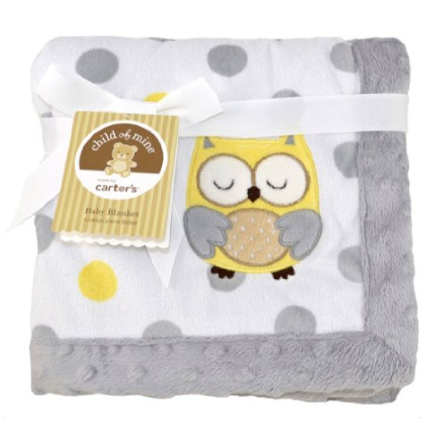 "Child of Mine Treetop Friends Owl Baby Valboa Blanket - 30"" x 40"""