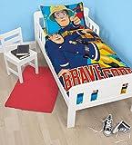 Fireman Sam Brave Junior Rotary Duvet Set Fits Toddler Junior & Cot Bed Duvet Cover and Pillow Case