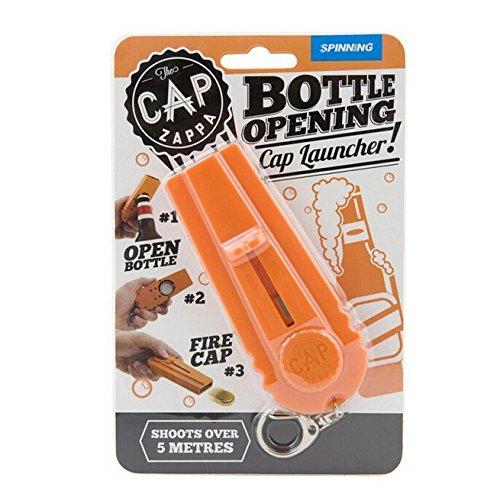 Cap Zappa Beer Bottle Opener Cap Launcher Shooter By Spinning Hat Fire Cap Shoot Over 5 Metersess-Color Random